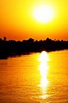 Sonnenuntergang am Nil