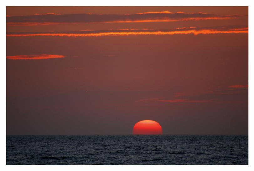 Sonnenuntergang am Nordsee