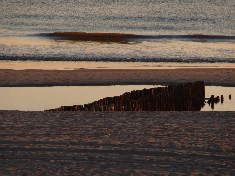 Sonnenuntergang am Nordsee-Strand