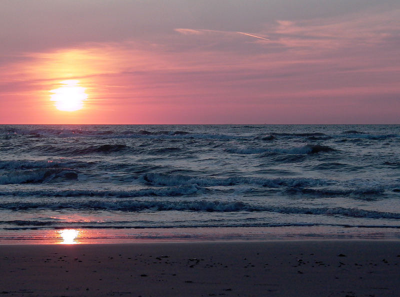Sonnenuntergang am Norlev-Strand