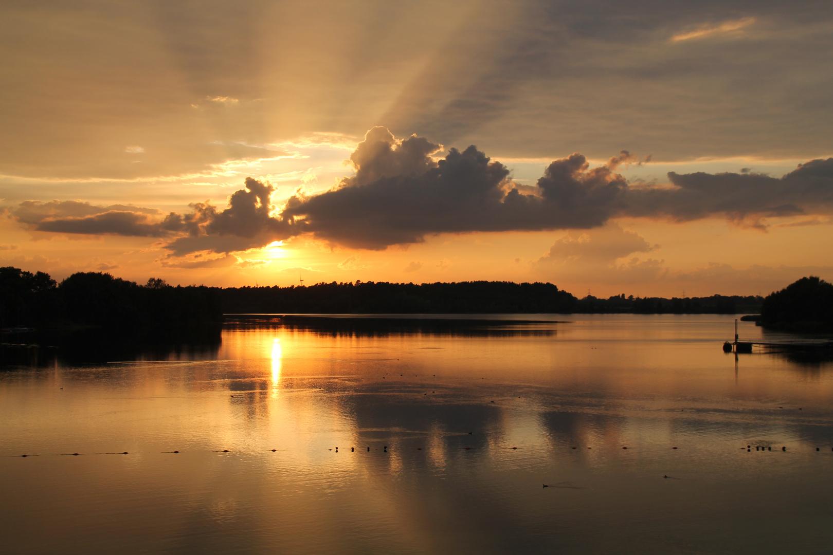 Sonnenuntergang am Offlumer 1