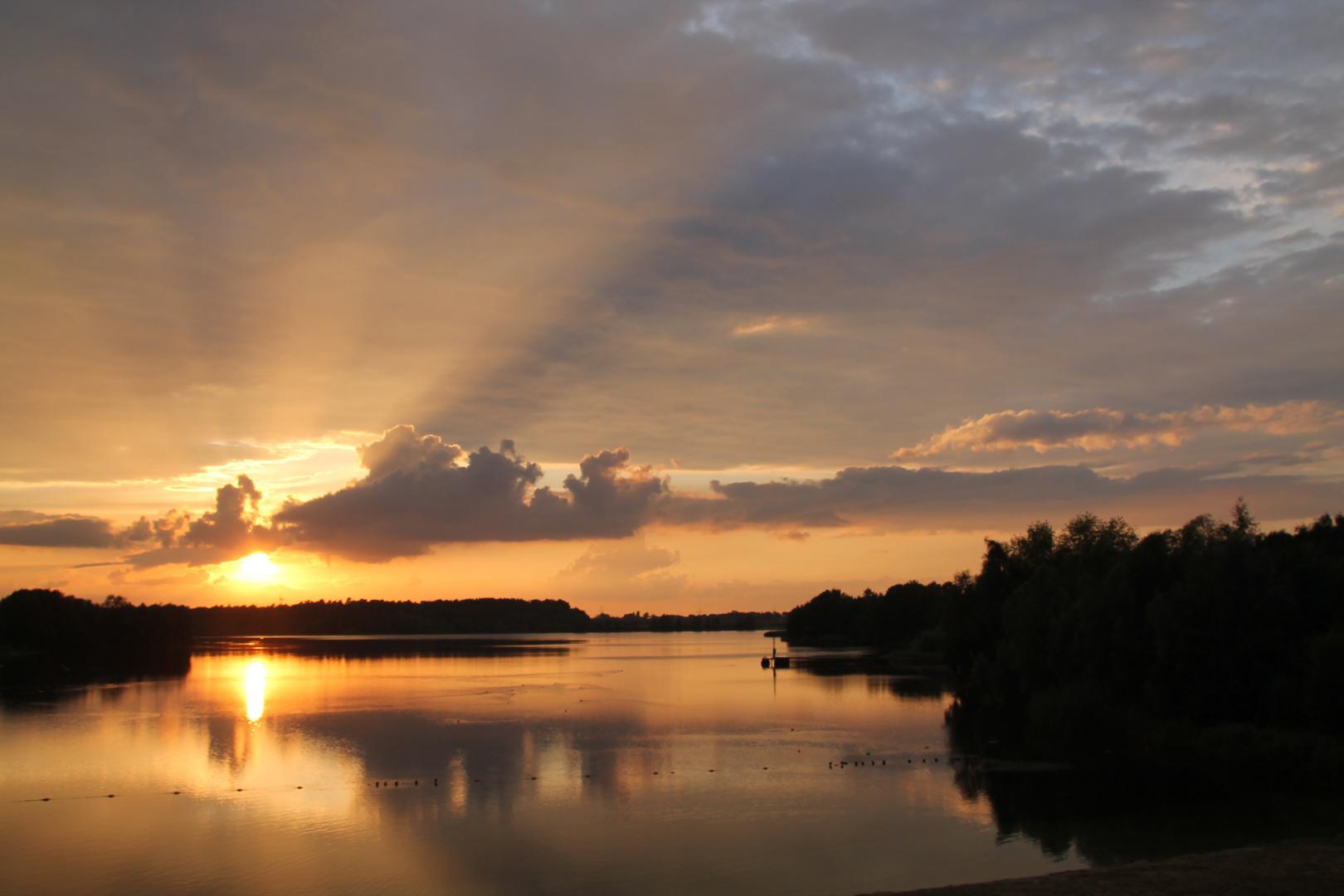 Sonnenuntergang am Offlumer 2