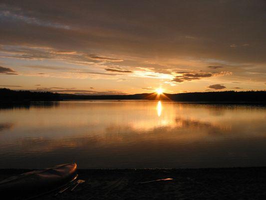 Sonnenuntergang am Osterdalälven