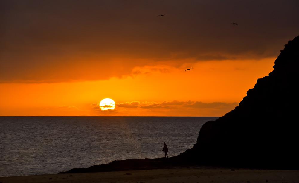 Sonnenuntergang am Papagayo Srand