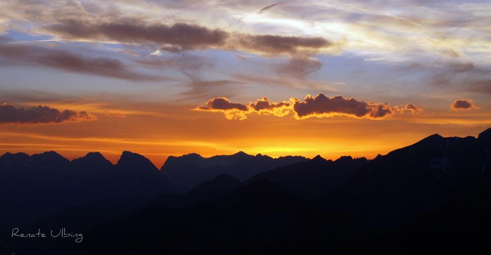 Sonnenuntergang am Patscherkogel