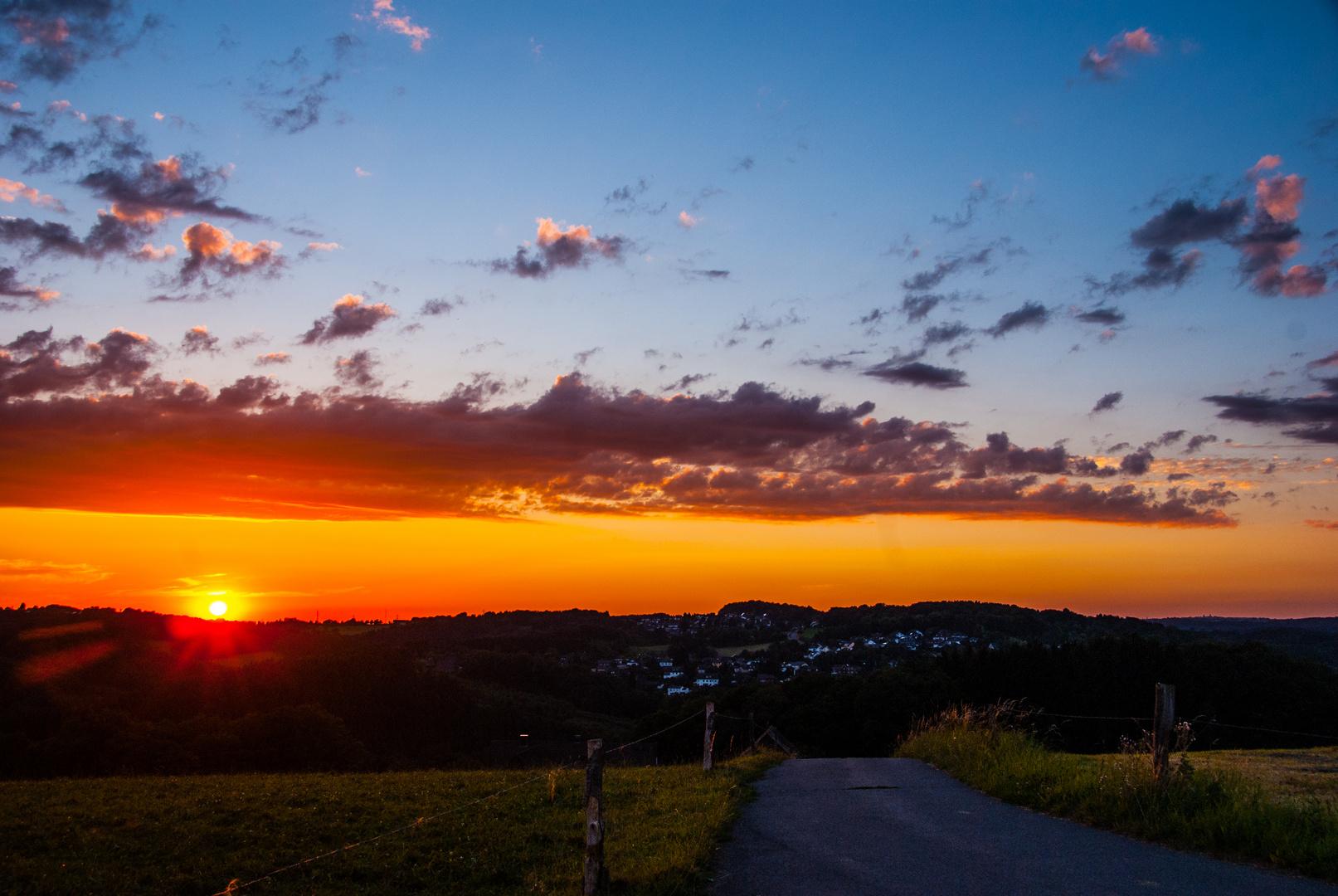 Sonnenuntergang am Petersberg