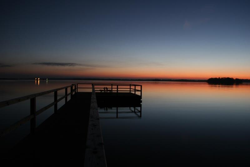 Sonnenuntergang am Plöner-See