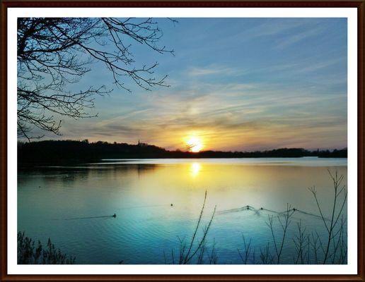Sonnenuntergang am Plöner See