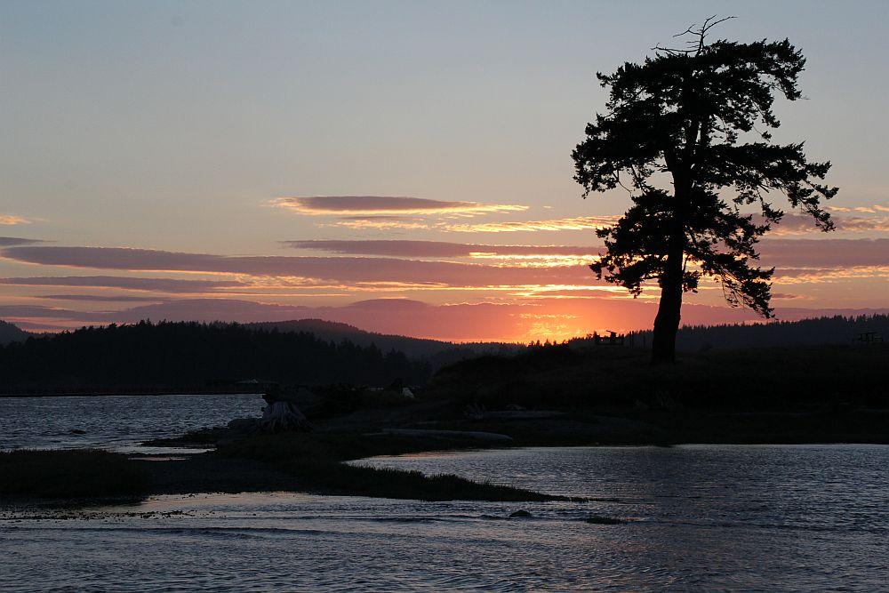 Sonnenuntergang am Puget Sound...