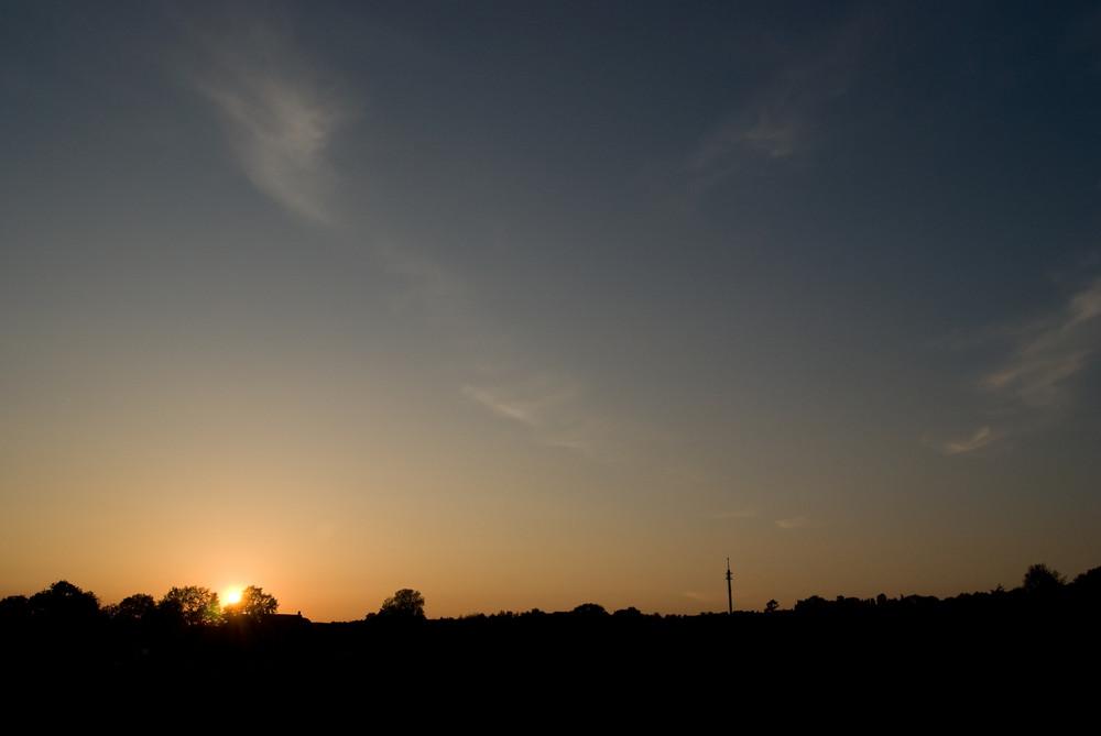 Sonnenuntergang am Quellberg