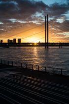 Sonnenuntergang am Rheinknie