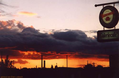 Sonnenuntergang am S-Bhf.-Warschauer Straße