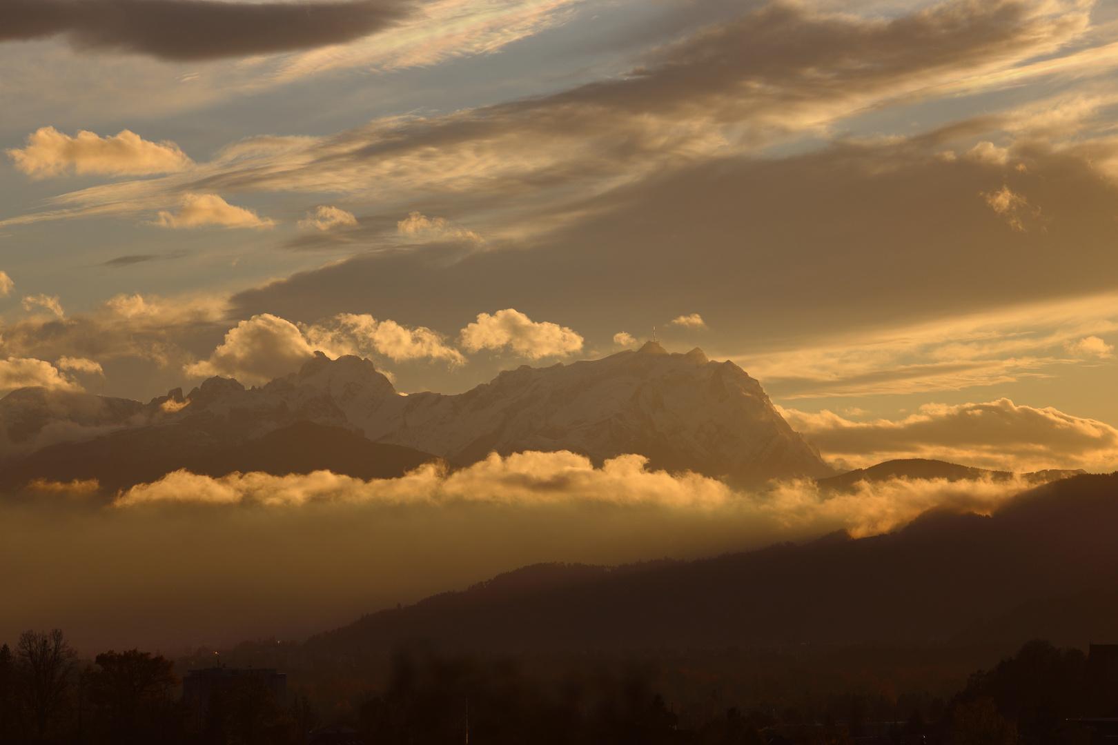 Sonnenuntergang am Säntis