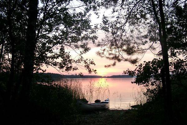Sonnenuntergang am Saimaasee