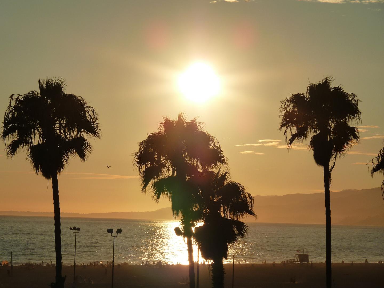 Sonnenuntergang am Santa Monica Beach