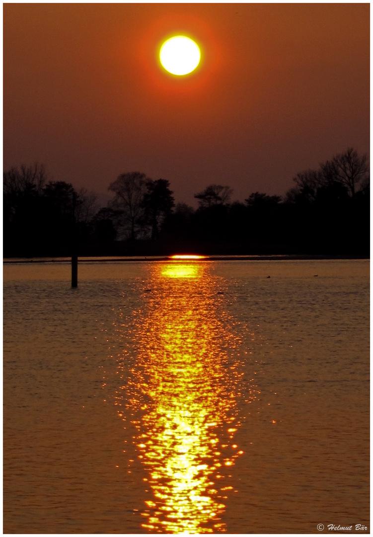 Sonnenuntergang am Schänzle
