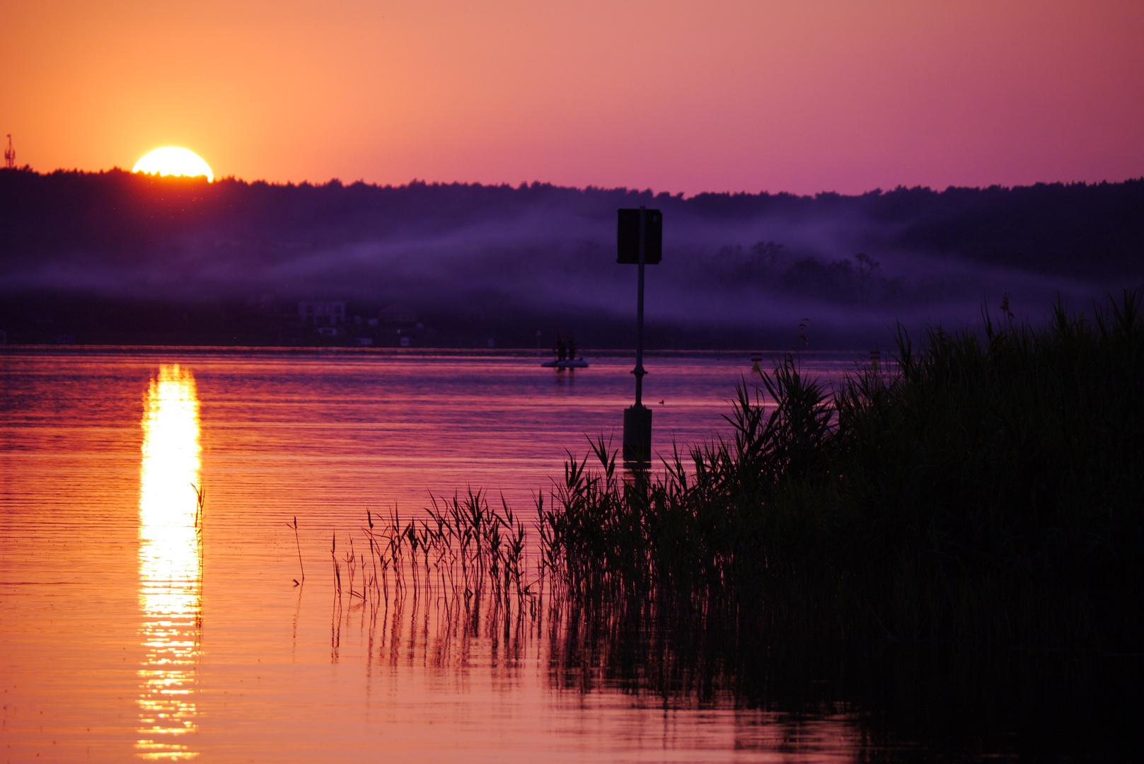 Sonnenuntergang am Schamützelsee