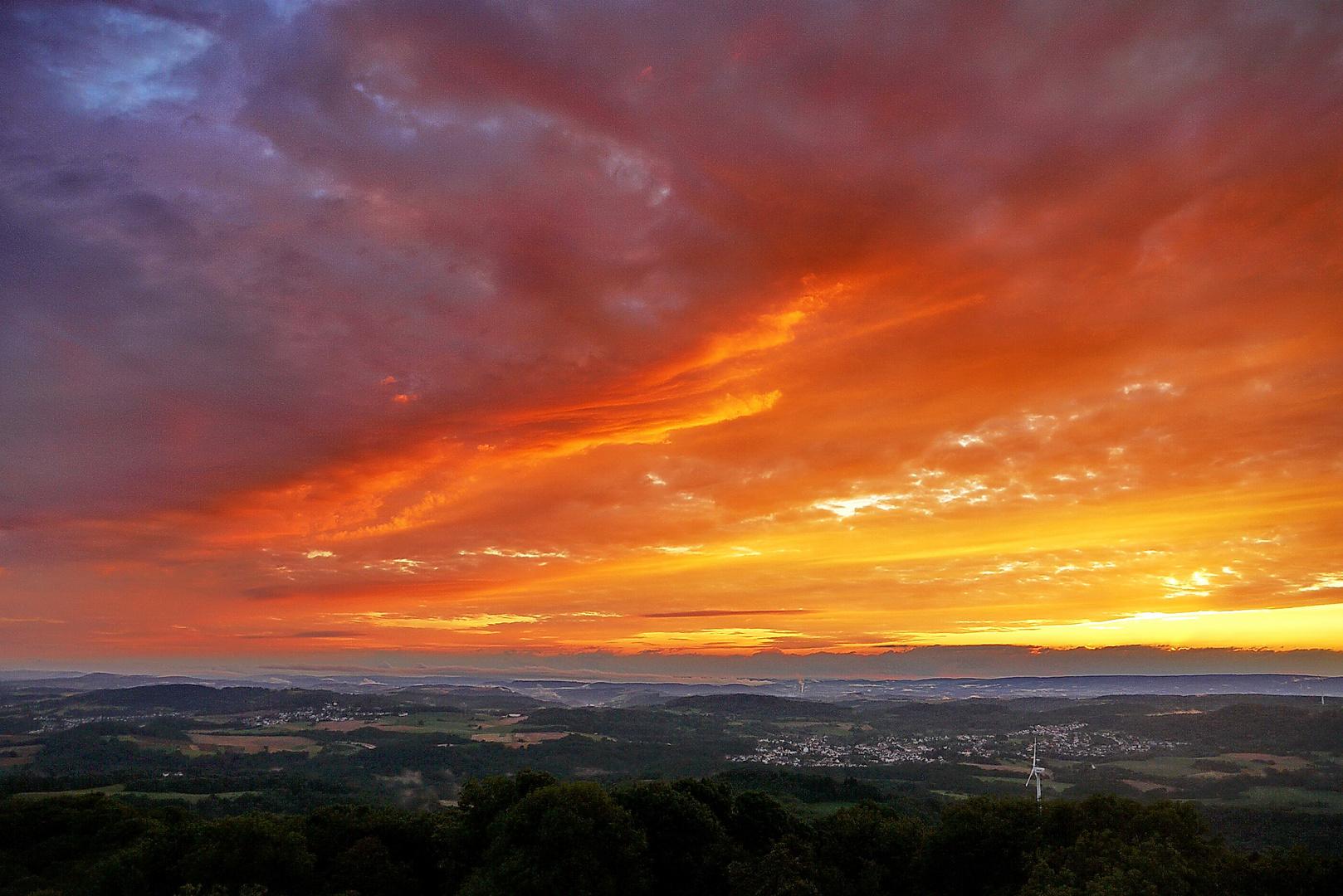 Sonnenuntergang am Schaumberg