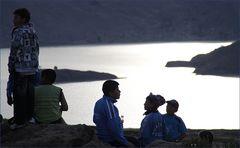 Sonnenuntergang am See ... in Peru