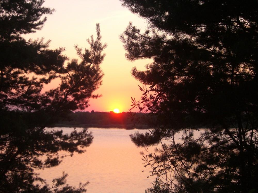 Sonnenuntergang am Senftenberger See