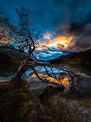 Sonnenuntergang am Silser See