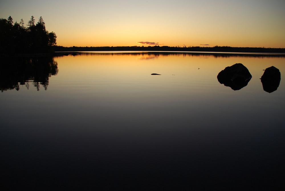 Sonnenuntergang am Skärsjön