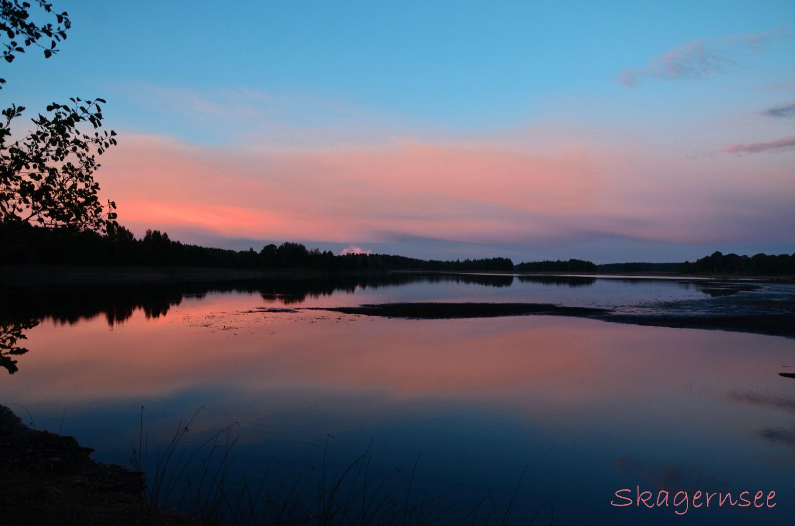 Sonnenuntergang am Skagernsee