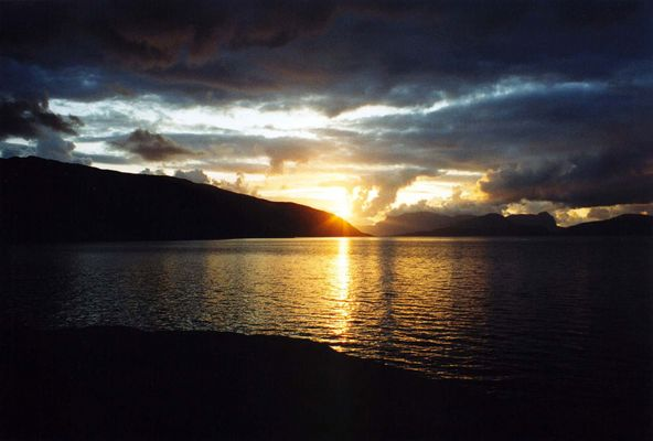 Sonnenuntergang am Sognefjord