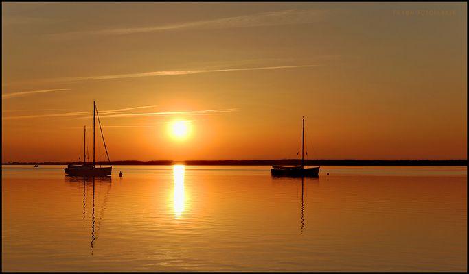 Sonnenuntergang am Steinhudermeer