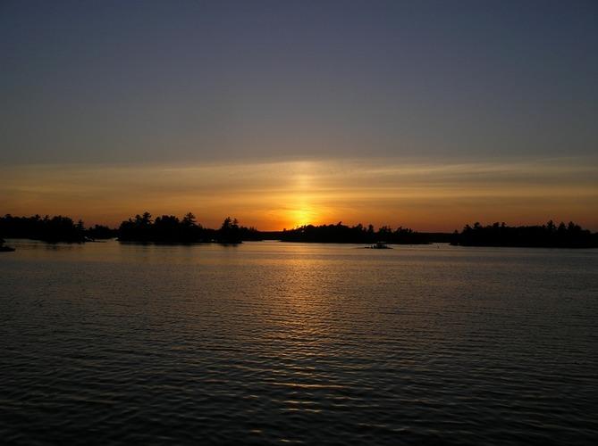 Sonnenuntergang am Stoney Lake