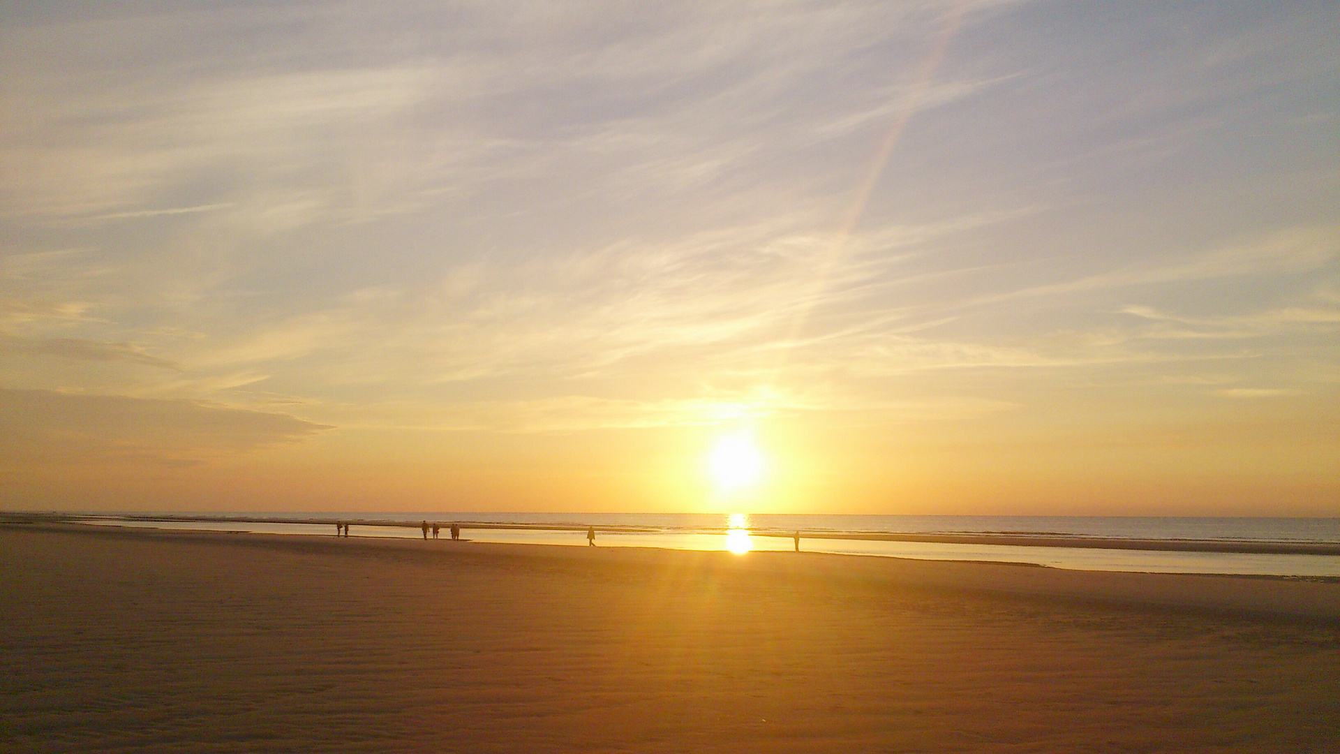 Sonnenuntergang am Strand [1]