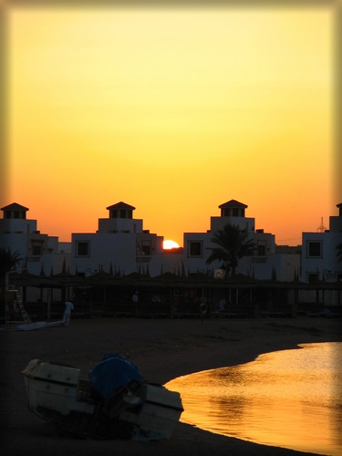 Sonnenuntergang am Strand...