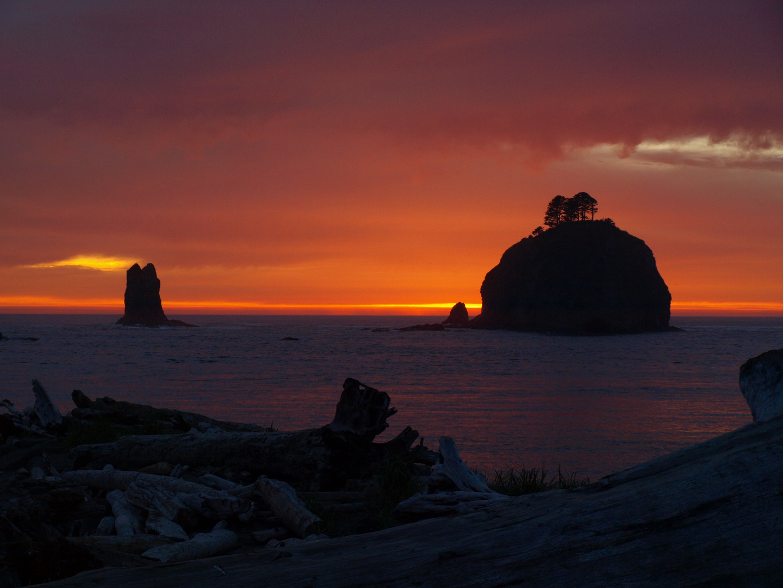 Sonnenuntergang am Strand La Push