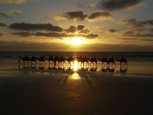 Sonnenuntergang am Strand von Broome
