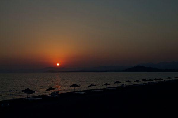 Sonnenuntergang am Strand von Fethiye