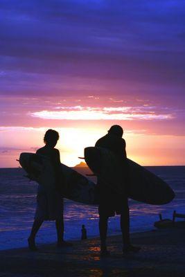 Sonnenuntergang am Strand von Ipanema - Feierabend