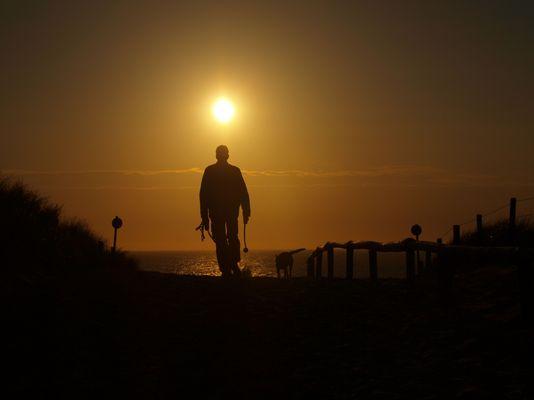 Sonnenuntergang am Strand von Noordwijk