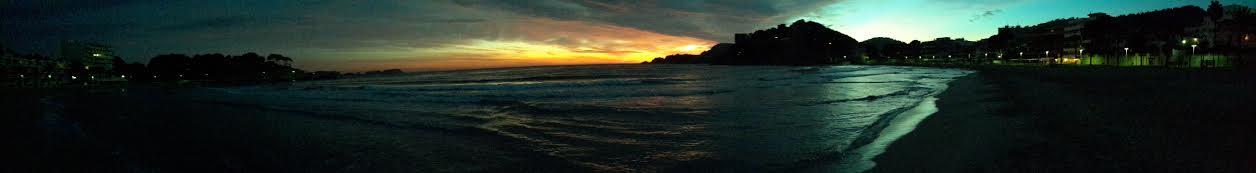 Sonnenuntergang am Strand von Paguera
