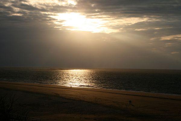 Sonnenuntergang am Strand von Renesse