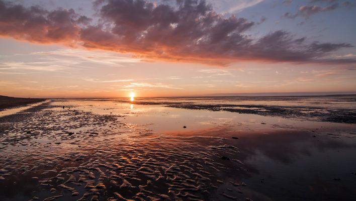 Sonnenuntergang am Strand von Schillig