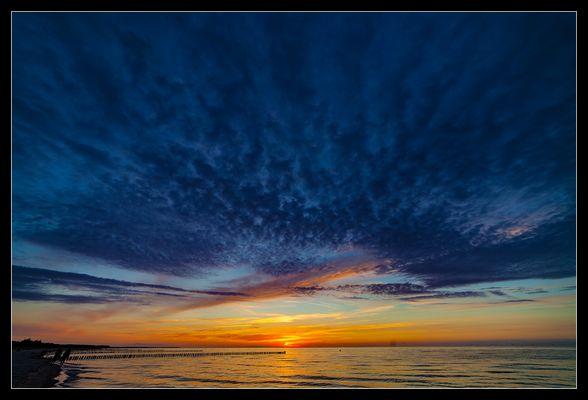 Sonnenuntergang am Strand von Zingst /2.