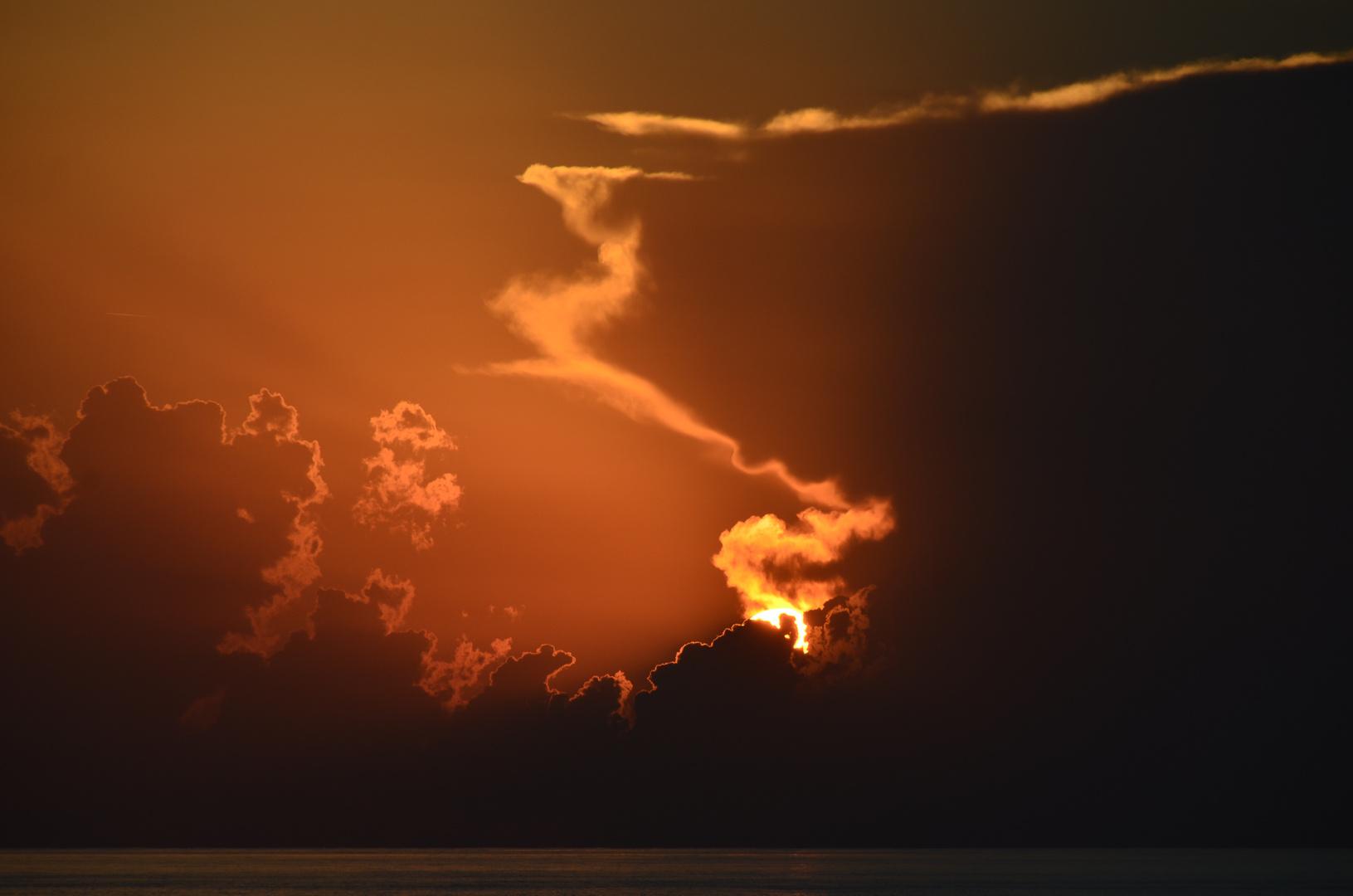 Sonnenuntergang am Strand von Zypern