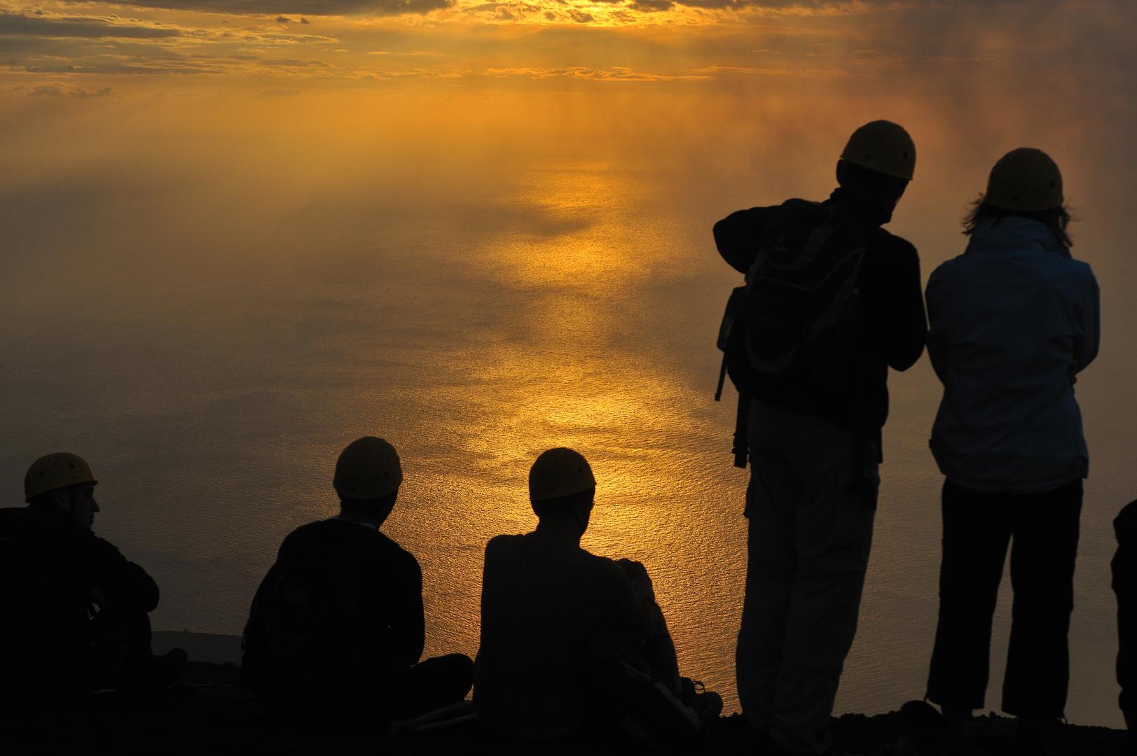 Sonnenuntergang am Stromboli