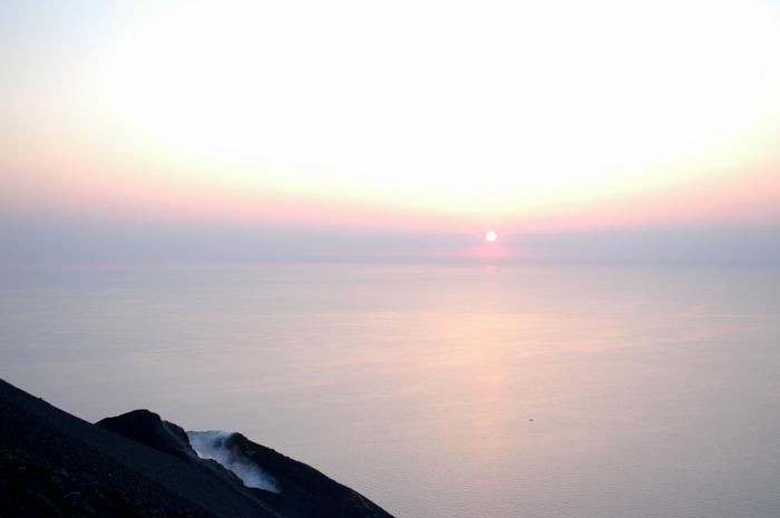 Sonnenuntergang am Stromboli I