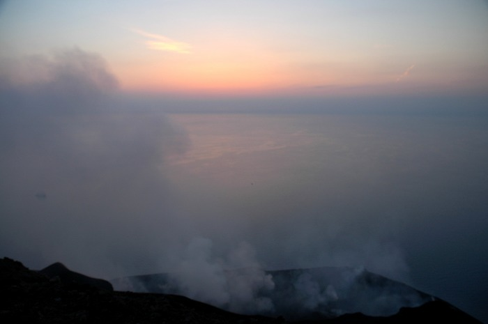 Sonnenuntergang am Stromboli II