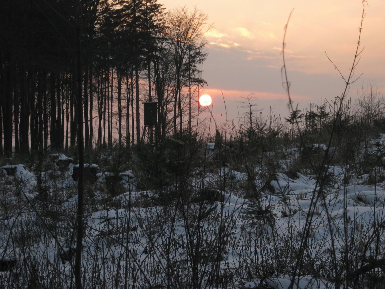 Sonnenuntergang am Taller berg