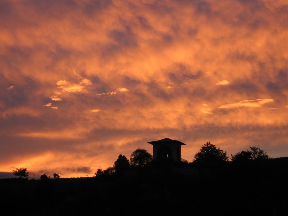 Sonnenuntergang am Teetempel