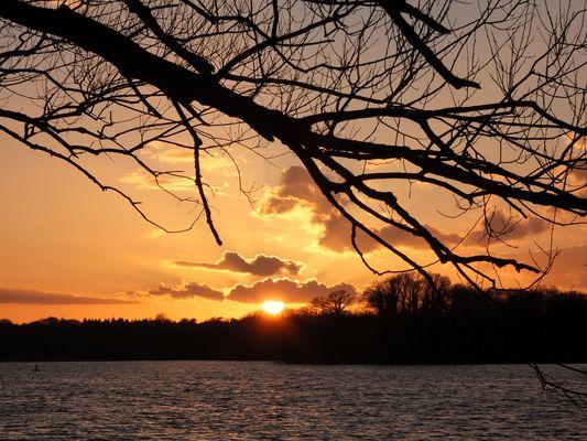 Sonnenuntergang am Tegeler See I