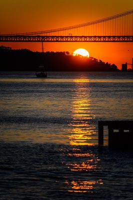 Sonnenuntergang am Tejo (1)