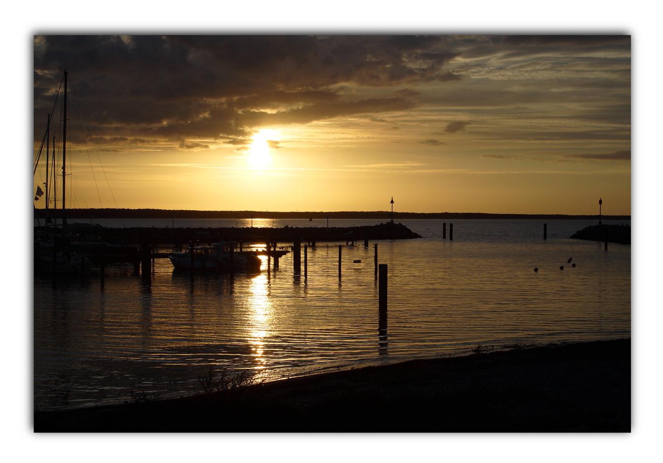 Sonnenuntergang am Tromper Wiek